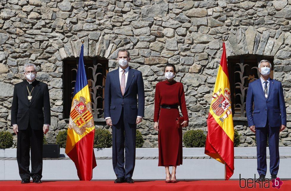 Los Reyes Felipe y Letizia con los copríncipes de Andorra en su Viaje de Estado a Andorra