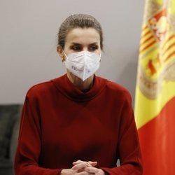 La Reina Letizia en una reunión con la Ministra de Educación de Andorra durante su Viaje de Estado a Andorra