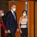 Los Reyes Felipe y Letizia a su llegada a la cena oficial en su Viaje de Estado a Andorra