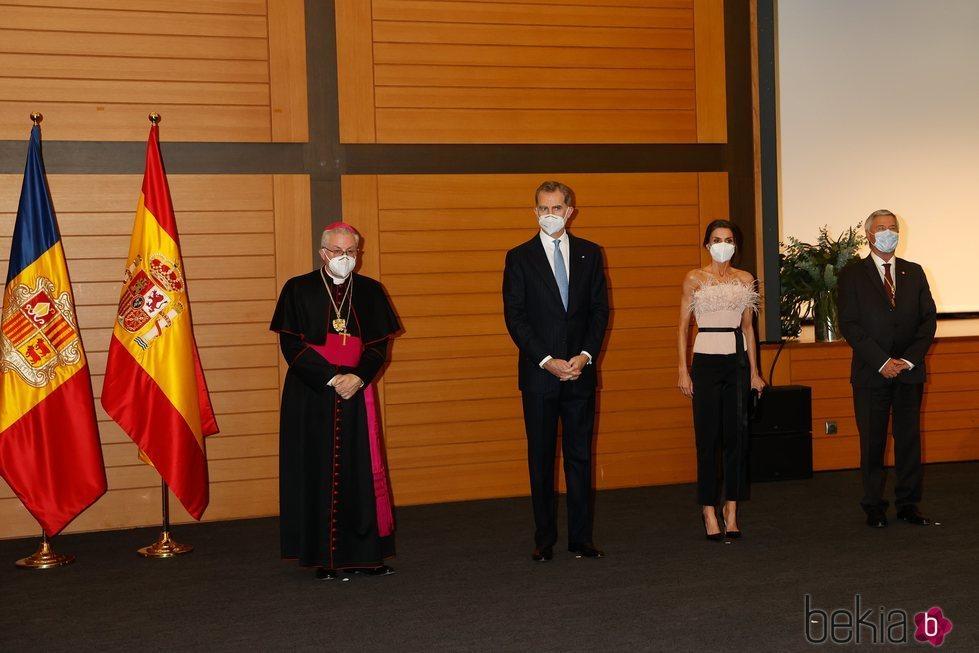 Los Reyes Felipe y Letizia con los copríncipes de Andorra en la cena oficial durante su Viaje de Estado a Andorra