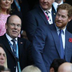 Alberto de Mónaco y el Príncipe Harry