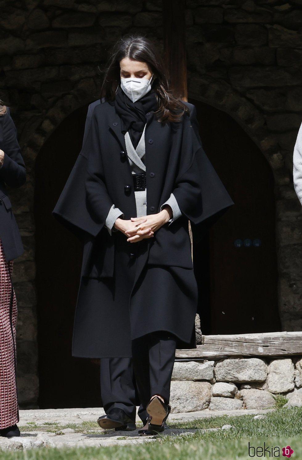 La Reina Letizia en la Iglesia de Santa Coloma durante su Viaje de Estado a Andorra