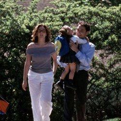 Rocío Carrasco y Antonio David Flores con su hija Rocío