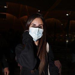 Alexia Rivas en el aeropuerto de Madrid para irse a 'Supervivientes 2021'