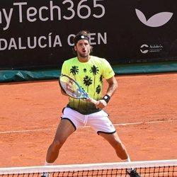 Feliciano López en uno de sus partidos de tenis en Marbella