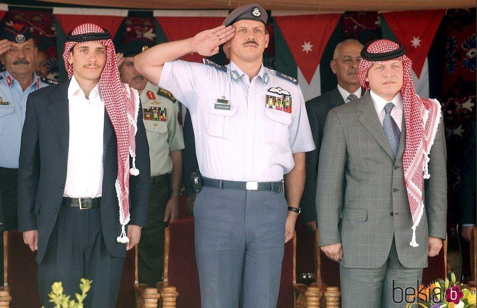 Hamzah de Jordania, Faisal de Jordania y Abdalá de Jordania