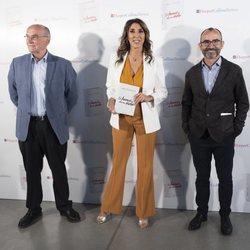 Paz Padilla con Enric Benito y Rafael Santandreu en la presentación de 'El humor de mi vida'