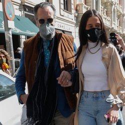 Jaime de Marichalar con su hija Victoria Federica en la celebración de su cumpleaños