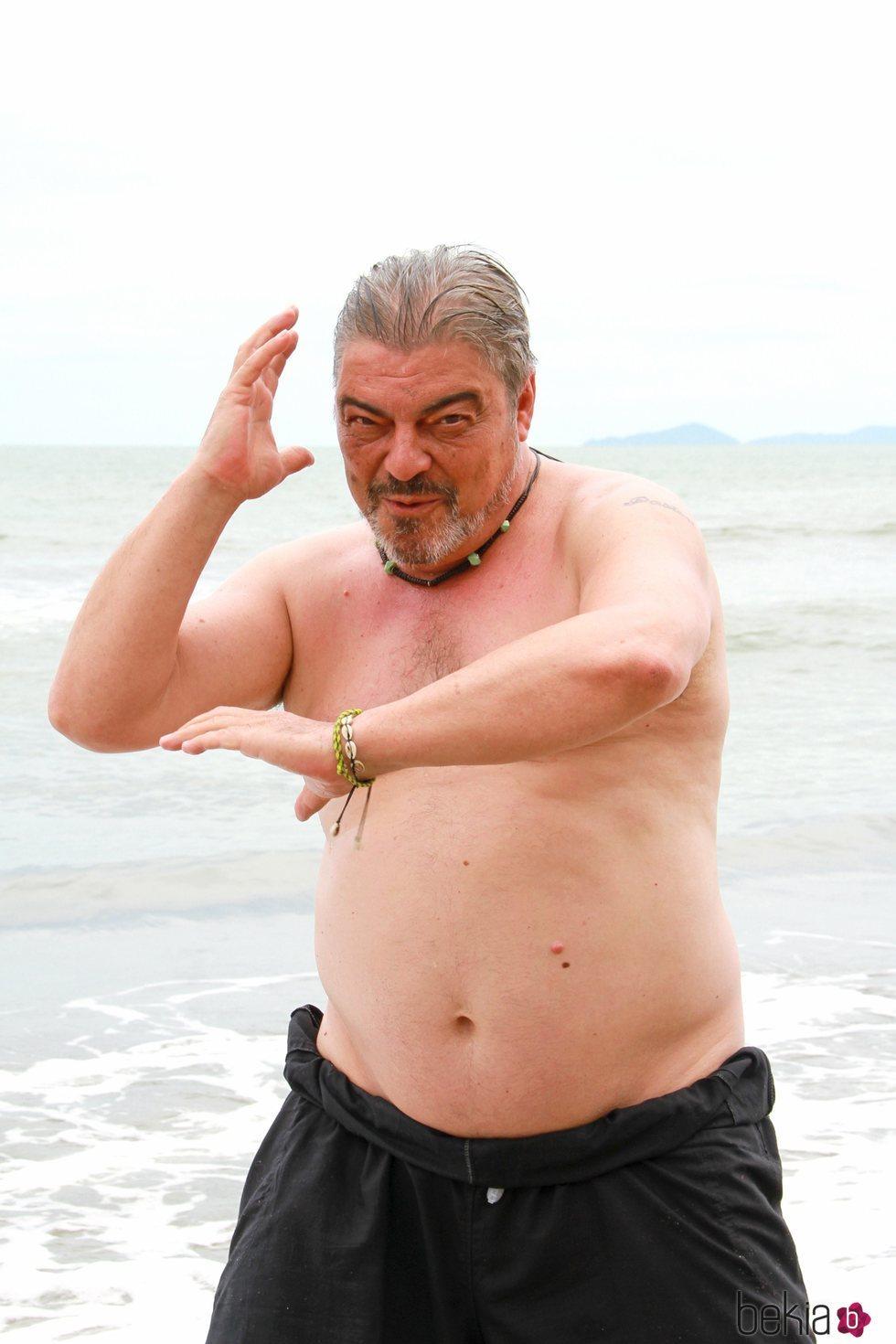 Antonio Canales en la playa de Honduras en 'Supervivientes 2021'