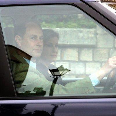 Los Condes de Wessex llegando al castillo de Windsor tras la muerte del Duque de Edimburgo