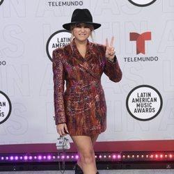 Sofía Reyes en la alfombra roja de los Latin American Music Awards 2021