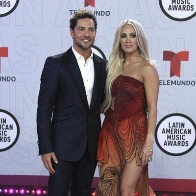 David Bisbal y Carrie Underwood en la alfombra roja de los Latin American Music Awards 2021