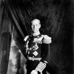El Duque de Edimburgo en la coronación de la Reina Isabel en 1953