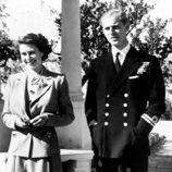 La Reina Isabel y el Duque de Edimburgo en Malta cuando eran jóvenes
