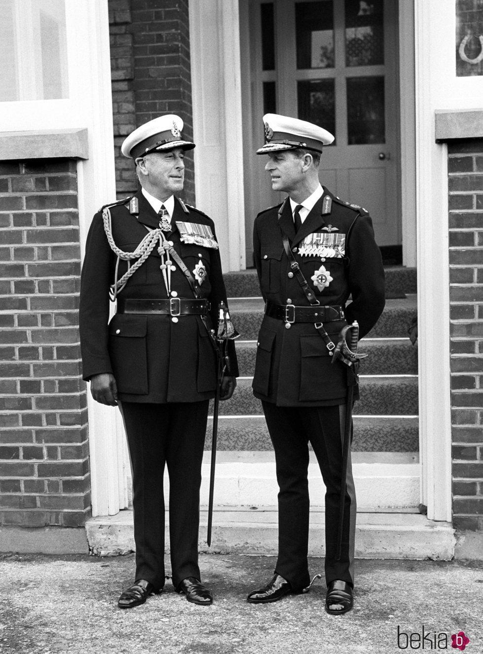 Lord Mountbatten y el Duque de Edimburgo