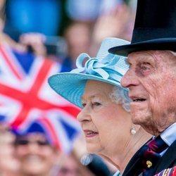 La Reina Isabel y el Duque de Edimburgo en Trooping the Colour 2017