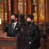 Beatriz de York y Edoardo Mapelli Mozzi en el funeral del Duque de Edimburgo