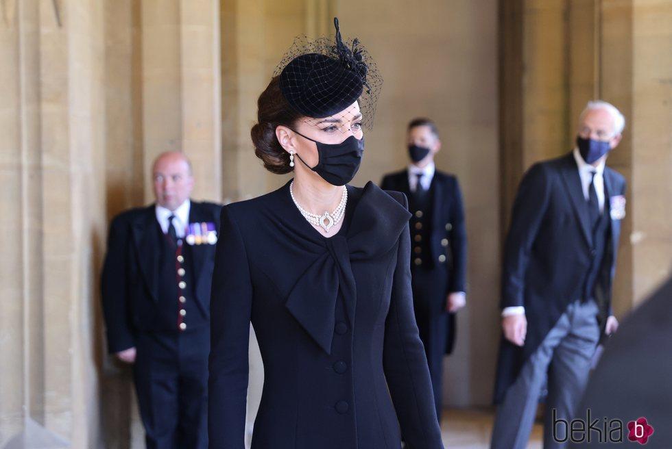 Kate Middleton es fotografiada durante el funeral del Duque de Edimburgo