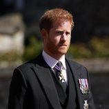 El Príncipe Harry en el funeral del Duque de Edimburgo