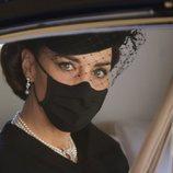 Primer plano de Kate Middleton en el funeral del Duque de Edimburgo