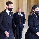 Eugenia de York y Jack Brooksbank en el funeral del Duque de Edimburgo