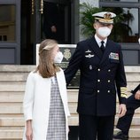 El Rey Felipe y la Princesa Leonor en la puesta a flote del Submarino S-81 Isaaac Peral en Cartagena