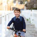 El Príncipe Luis en su primer día de escuela infantil