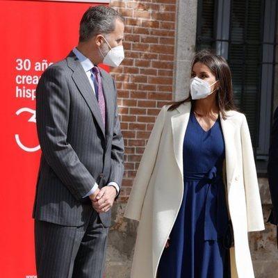 Los Reyes Felipe y Letizia en Alcalá de Henares en el acto con motivo del Día Internacional del Libro