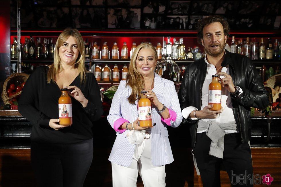 Carlota Corredera, Belén Esteban y Raúl Prieto en la presentación de 'Los Sabores de La Esteban'