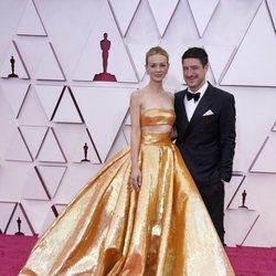 Carey Mulligan y Marcus Mumford en la alfombra roja de los Premios Oscar 2021