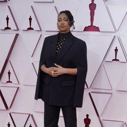 Janice Duncan en la alfombra roja de los Premios Oscar 2021