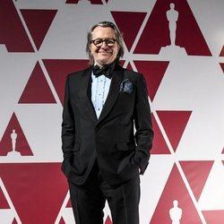Gary Oldman en el visionado de los Premios Oscar 2021 en Londres