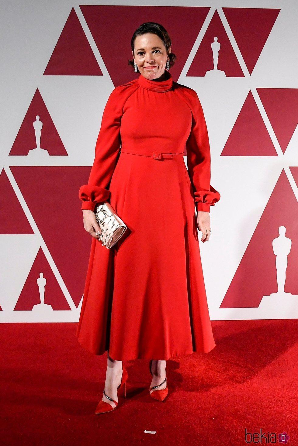 Olivia Colman en el visionado de los Premios Oscar 2021 en Londres