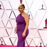 Jamika Wilson en la alfombra roja de los Premios Oscar 2021