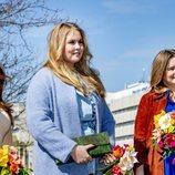 Amalia, Alexia y Ariane de Holanda en el Día del Rey 2021