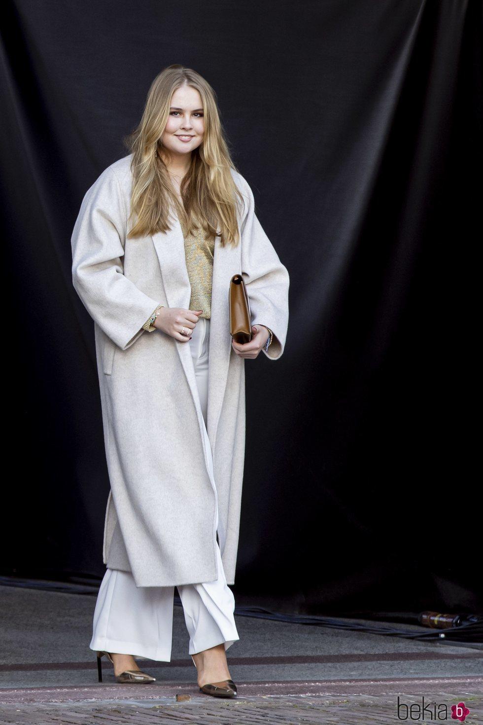 Amalia de Holanda en el concierto del Día del Rey 2021