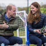 El Príncipe Guillermo y Kate Middleton en Belmont Community Centre en Durham