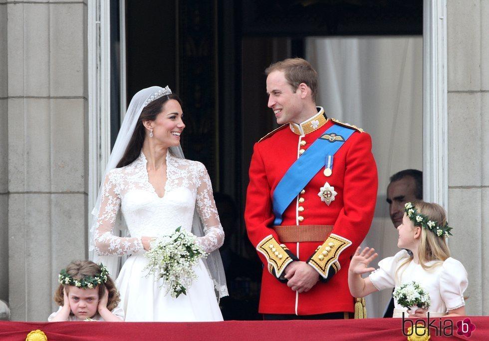 El Príncipe Guillermo y Kate Middleton en su boda