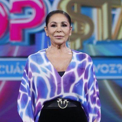 Isabel Pantoja en la presentación del programa 'Top Star'
