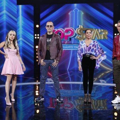 Danna Paola, Risto Mejide, Isabel Pantoja y Jesús Vázquez en la presentación de 'Top Star'