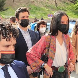 Froilán y Victoria Federica con Miguel Abellán en el regreso de los toros a Las Ventas