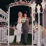 Joe Jonas y Sophie Turner el día de su boda en Las Vegas
