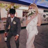 Sophie Turner y Joe Jonas, divertidos en su boda en Las Vegas