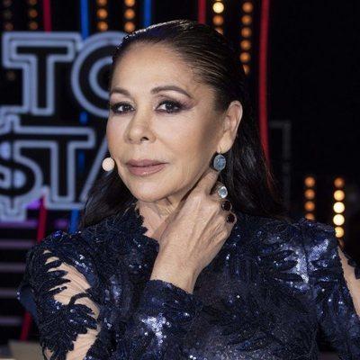 Primer plano de Isabel Pantoja en el primer programa de 'Top Star'