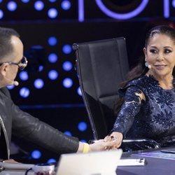 Isabel Pantoja y Risto Mejide en la primera gala de 'Top Star'