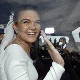 Alejandra Ruiz de Rato a su salida del enlace con Ernesto de Novales