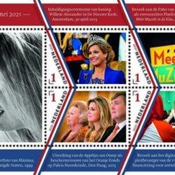 Sellos conmemorativos por el 50 cumpleaños de Máxima de Holanda