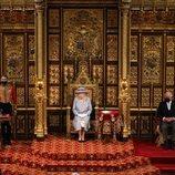 La Reina Isabel, el Príncipe Carlos y Camilla Parker en la Apertura del Parlamento 2021