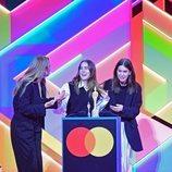 El grupo Haim en los Brit Awards 2021