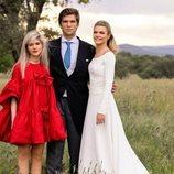 Alejandra Ruiz de Rato con sus hermanos el día de su boda